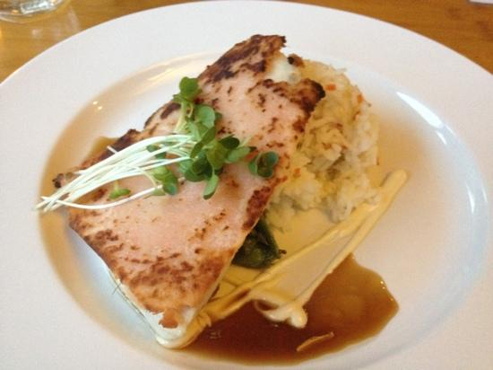 The Bistro : ginger crusted catch of the day (swordfish in this case)