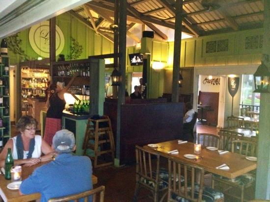 The Bistro : indoor or outdoor dining