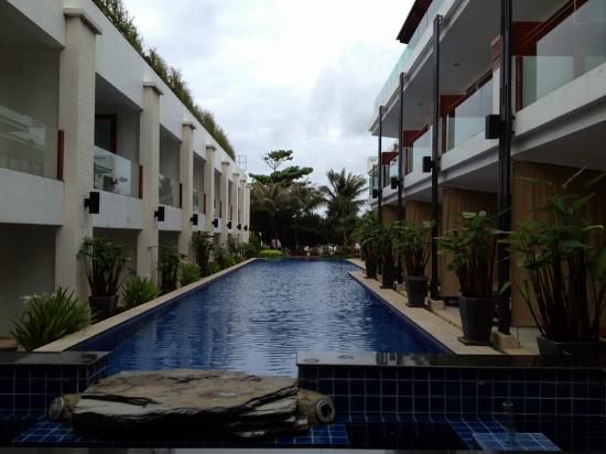 La Flora Resort Patong: one of the parallel pools, from the Reception area