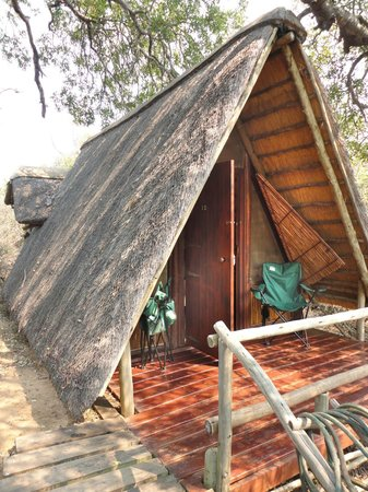 Panzi Bush Camp: Chalet, with little front deck for relaxing