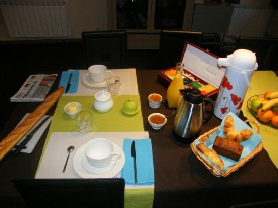 La Ferme de Montaigu : le petit déjeuner
