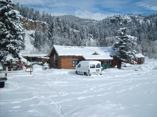 Goodnight's Lonesome Dove R.V. and Cabins: Dove after a snow strom