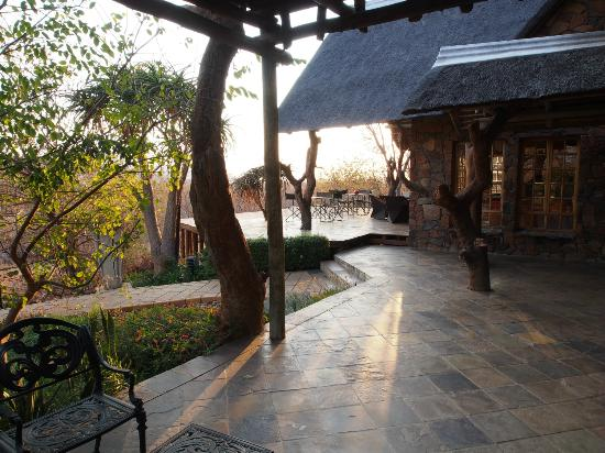 Mokolodi House: Early morning view from the door of my room......