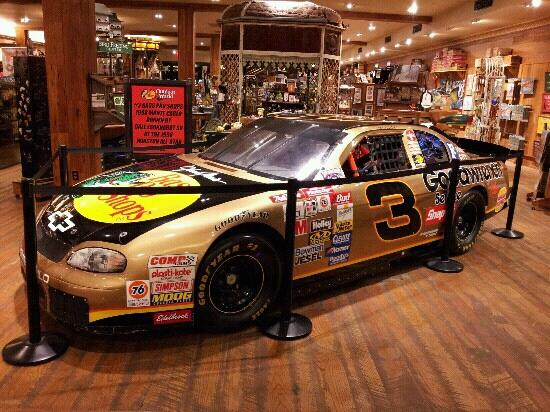 Dale Earnhardt's race used car - Picture of Bass Pro Shops