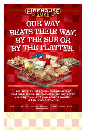 c9944cb20e611 Catering available for any size group - Picture of Firehouse Subs ...