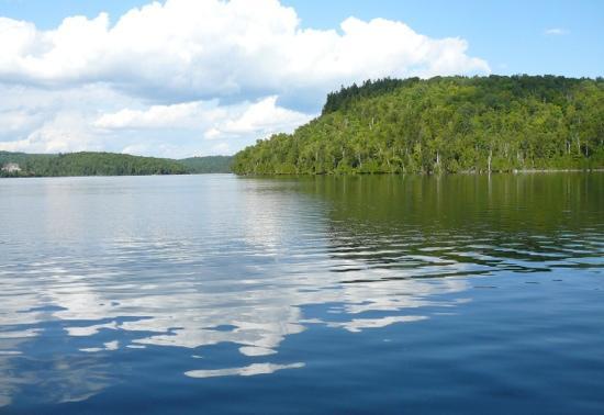 Auberge du Lac-a-l'Eau-Claire: vue du lac
