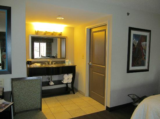 Hampton Inn & Suites Nashville - Downtown: only a small section of room