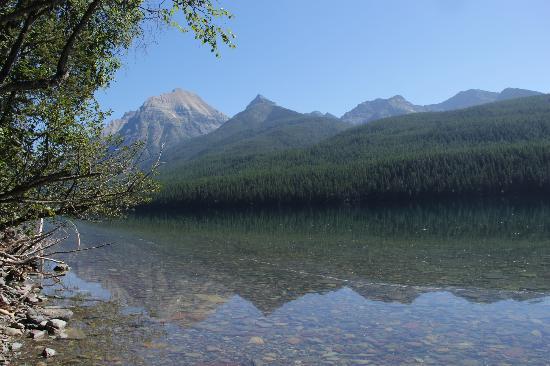 Bowman Lake: hiking along the lake