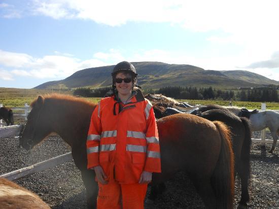 Laxnes Horse Farm: Me at Laxnes Horse Farm with Blessa 