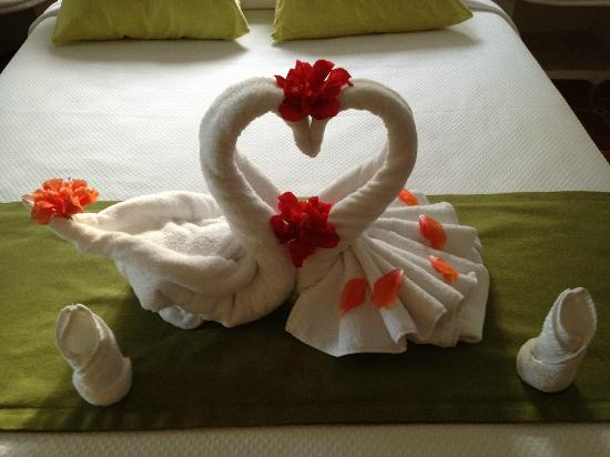 Mahekal Beach Resort: Towel swans