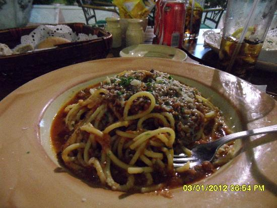 Firenze: spaghetti alla bolognese