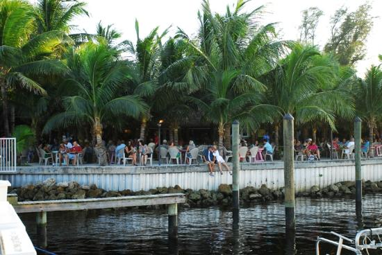 Square Grouper Tiki Bar Jupiter Inlet: Sitting Along the Sea-wall - Another Way to Enjoy