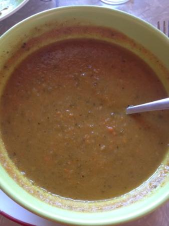 Dish Cafe : Big bowl of potato zuchanni soup