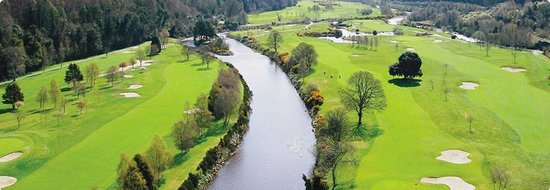 Woodenbridge Golf Club: The Avoca River, winding through the golf course