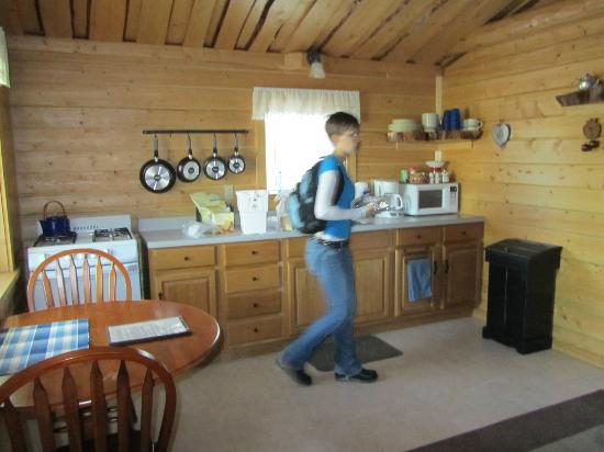 Homestead Guest Cabins: Kitchen area