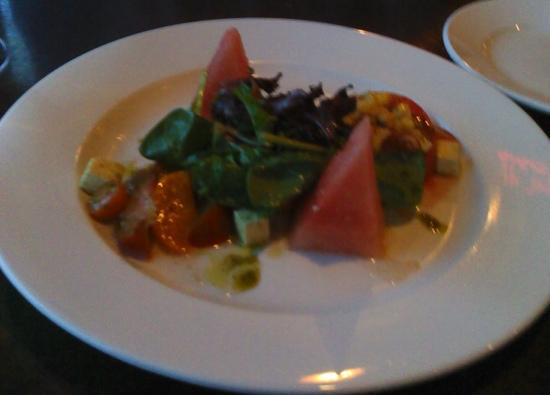 Sunny's Table: Heirloom Tomato Salad, w/watermelon and fresh corn!