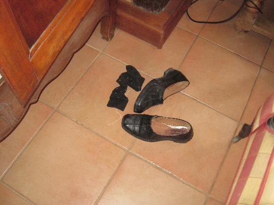 Shoes on loungeroom floor
