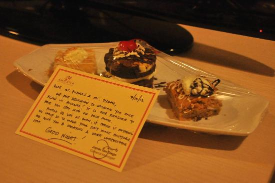 Amorita Resort: our welcome treat from the staff