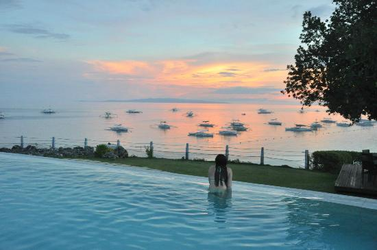 Amorita Resort: sunset view from the pool