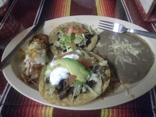 Colotlan Mexican Restaurant: Tostada, Taco, and Chimichanga combo
