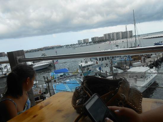 Joe's Crab Shack: the view at Joes