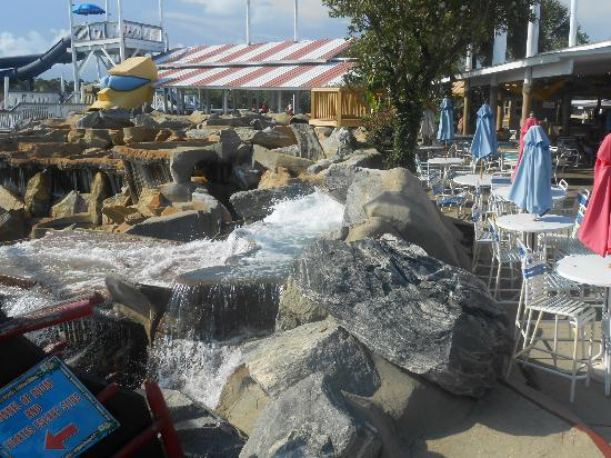 Big Kahuna's Water and Adventure Park: to get to one of the slides leading to the nasty lazy river