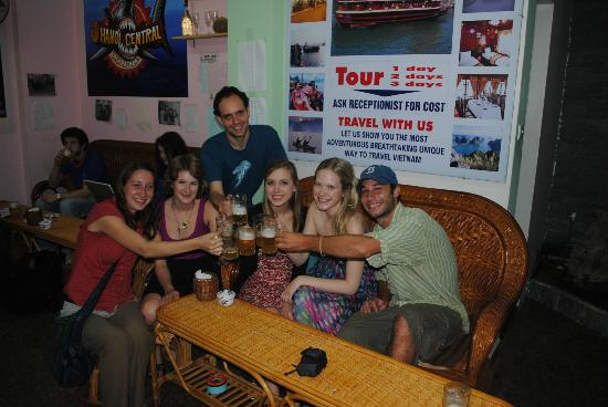 Central Backpackers Hostel - Original: Friends we met and travelled with throughout Vietnam enjoying the free beer