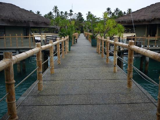 Dos Palmas Island Resort & Spa: Walkway/ Bay Villas