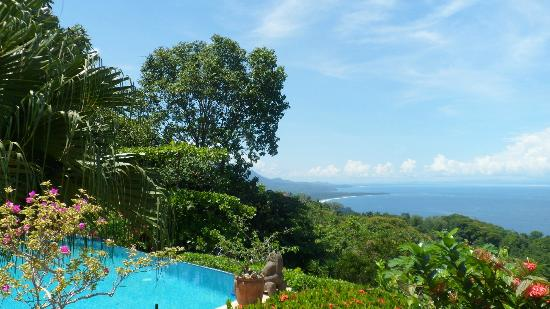 Kalon Surf - Surf Coaching Resort: View from the pool / terrace
