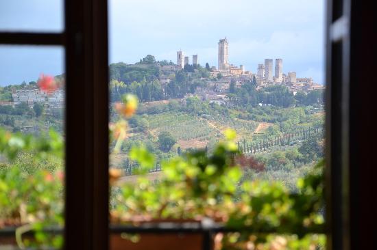 Podere Sant'Elena: Aus unserem Fenster