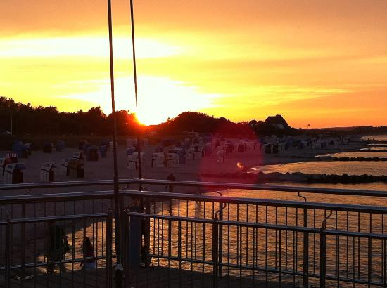 Hohwacht, Duitsland: Sonnenuntergang