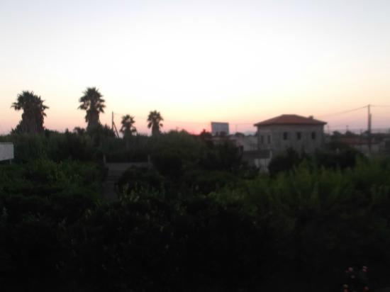 Lenaki: sunset from room