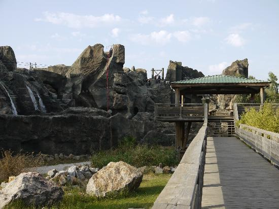 Canyoning Park : park and shaded viewing area