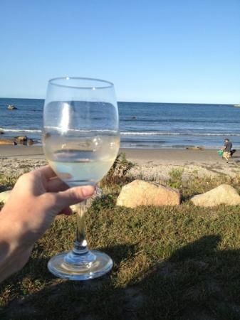 Avonlea, Jewel of the Sea: Enjoy your complimentary wine while sitting on the porch or beach