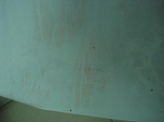 Hotel Rambla: cortina del baño antes de cambiarla