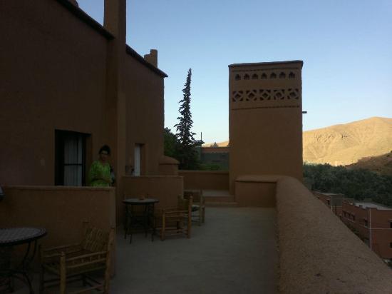 Chez Pierre: la terraza de nuestra habitación
