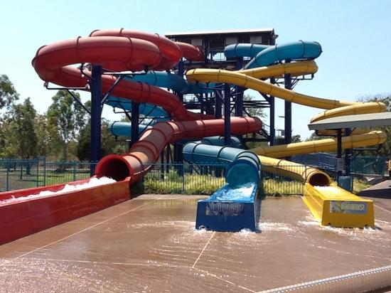 Leanyer Recreation Park: the waterslides
