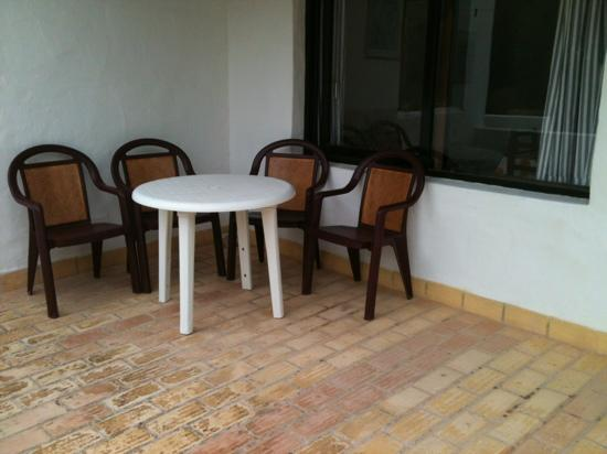 Pinomar : veranda vista pineta con vetrata sul salone