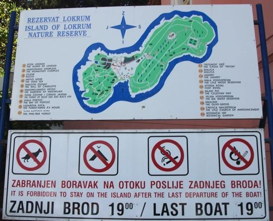 Mapa de Lokrum  Picture of Island of Lokrum Dubrovnik  TripAdvisor