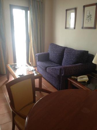 Hotel La Posada: Solo un sofa en el salon