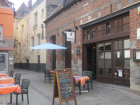 Tournai, Belgique : Notre terrasse