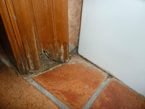 Las Nieves Hotel: Puerta del baño