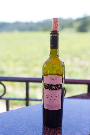 Schweiger Vineyards: It's never too early for a nice Cab....