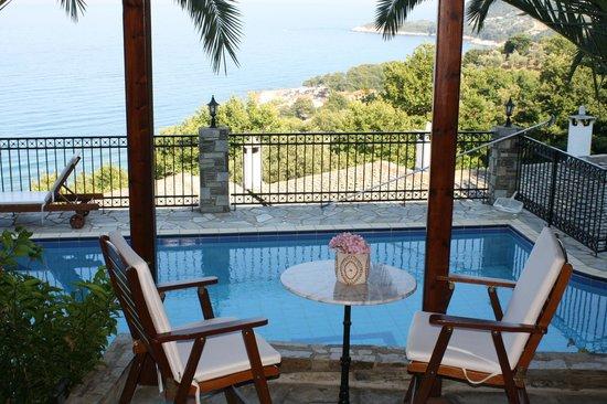 Pelion Country Villas-Theodorides Estate: Pool area -PelionCountry Villas Theodorides Estate