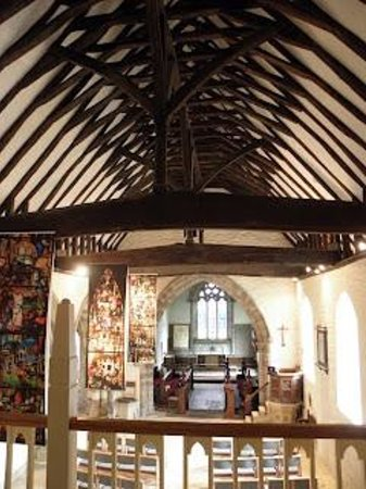 Yarpole Community Shop: Mediaeval roof form the Gallery Cafe