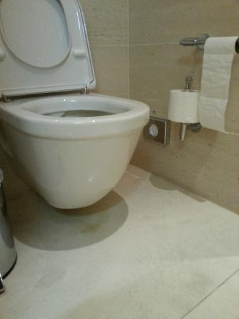 QF Hotel Dresden : Dirty spot below toilet