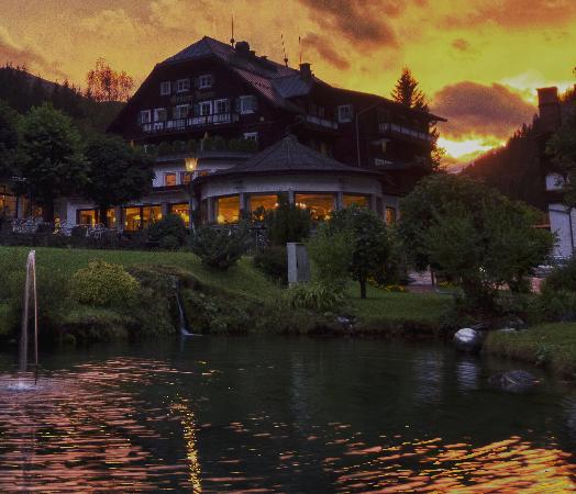 Hoteldorf Gruner Baum: Dusk - Sonnenuntergang - mainb building
