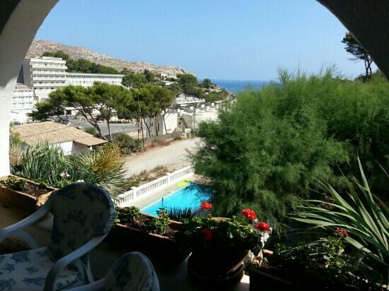 Hostal Los Pinos: terrasse o? on prend le petit d?jeuner