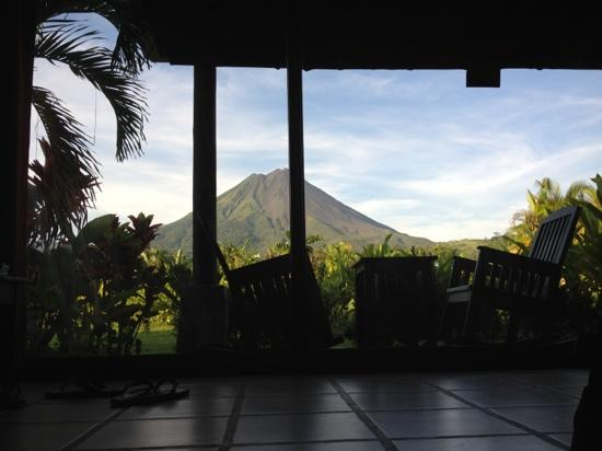 "Arenal Manoa Hotel: when people say ""great view"", it's just from the window, it's from the bed through a 10' x 12' w"