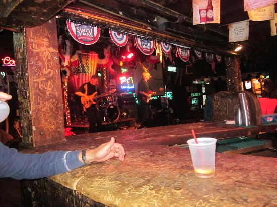 Little Bear Saloon and Restaurant: View of stage from bar